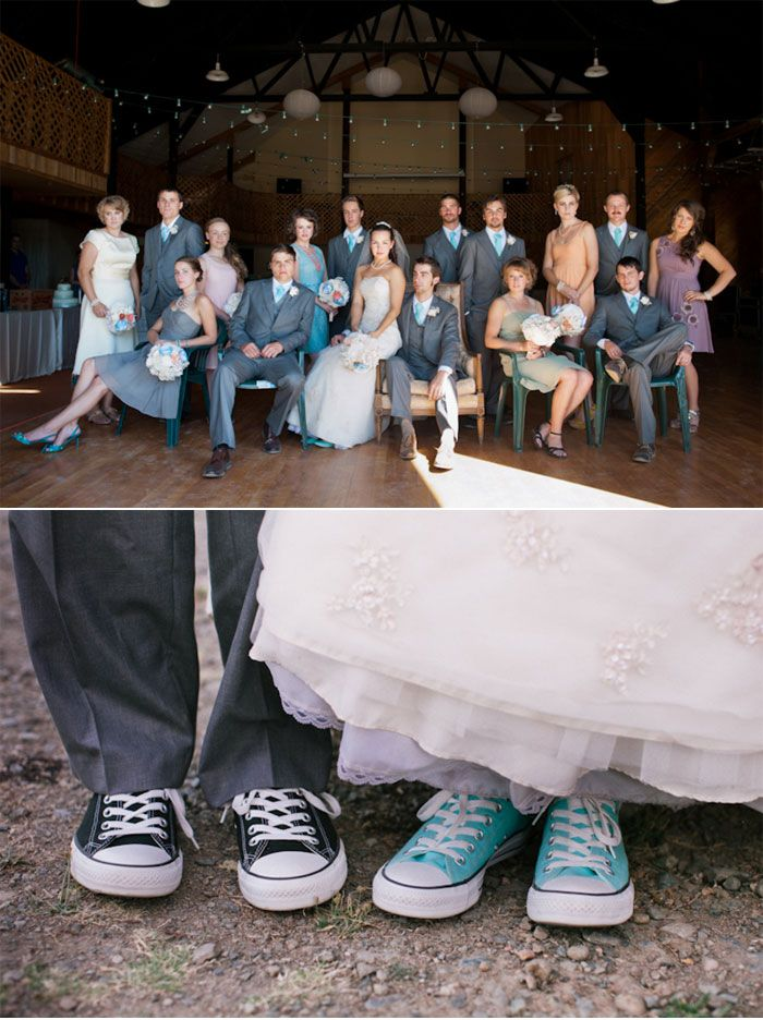 CONVERSES WEDDING PARTY | Paper Proposal Inspired Weddings