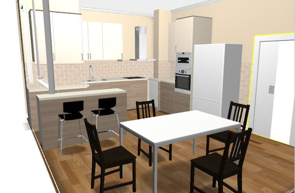 Cucina ikea brokhult ringhult tavolo torsby sedie stefan - Ikea penisola cucina ...