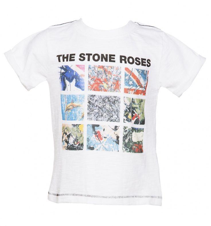Kids White Stone Roses Album Covers T-Shirt From Amplified Kids : TruffleShuffle.com