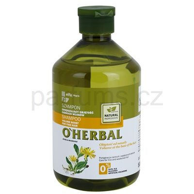 Objemový šampon pro jemné vlasy O'HERBAL ARNICA MONTANA | parfums.cz