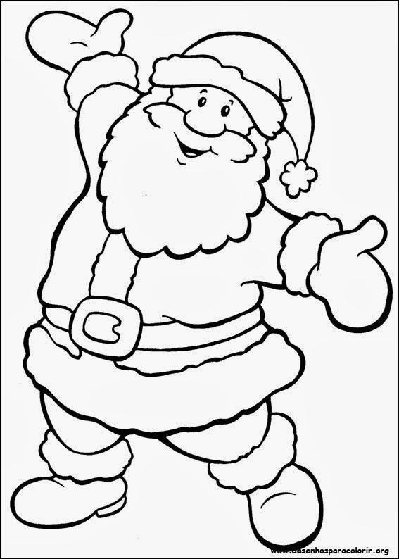 Desenhos De Papai Noel Para Imprimir E Colorir Papai Noel Para