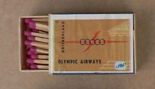 Very old still filled matchbox    OLYMPIC AIRWAYS GREECE   (end of 60s)