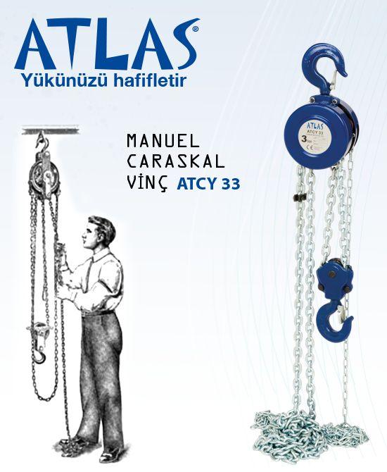 Yuvarlak caraskal vinç ATLAS ATCY 33; 3 ton kapasiteli manuel vinçtir. Caraskal vinç 3 metre zincir uzunluğuna sahiptir. Atlas caraskal profesyonel taşıma kaldırma aracıdır. http://www.ozkardeslermakina.com/urun/caraskal-vinc-atlas-atcy33-3-ton/ #atlas #caraskal #vinc #ceraskal #insaat #sanayi #profesyonel #hirdavat
