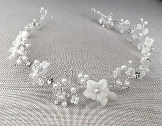 Bridal hair vine delicate hair vine bridal headpiece