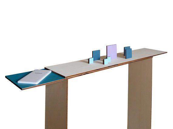 Laser cut wood entry tablewood foyer tablemodern by LOHNhome