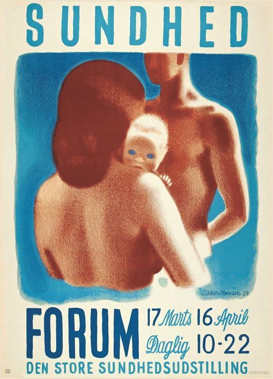 Vintage poster: Sundhed i Forum (1939) - Denmark Artist: Aage Sikker Hansen