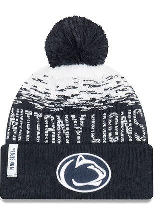 f9530e0ecf7 New Era Penn State Nittany Lions Mens Navy Blue NE16 Sport Knit Flect Knit  Hat