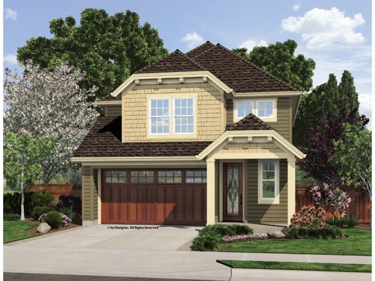 Best Home Ideas Images On Pinterest Craftsman Homes House - Craftsman style narrow house plans