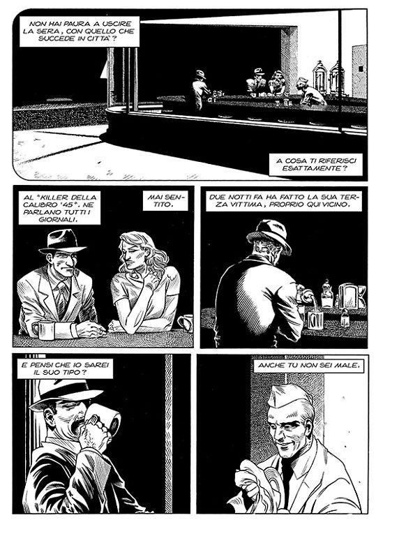 """da """"Agenzia Alfa n° 33, Il sole del mattino"""", testi di S.Piani e disegni di Melissa Zanella . Sergio Bonelli Editore.  Drawings by Melissa Zanella."""
