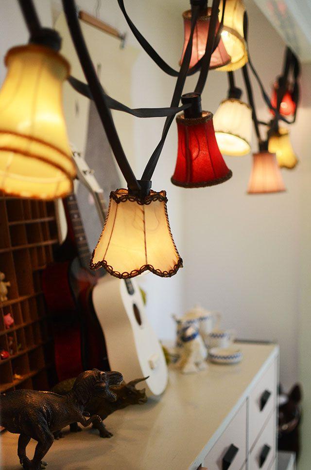 DIY Pyssel: Ljusslinga med små lampskärmar | Hemma med Helena