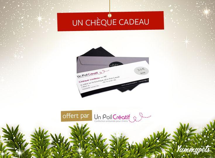 Faites plaisir à votre animal en gagnant un chèque cadeau de 30 euros à valoir sur la boutique @unpoilcreatif . Pour tenter de le gagner, Pin it et likez cette image. - http://ymp.io/u/cheque -  #jeuconcours