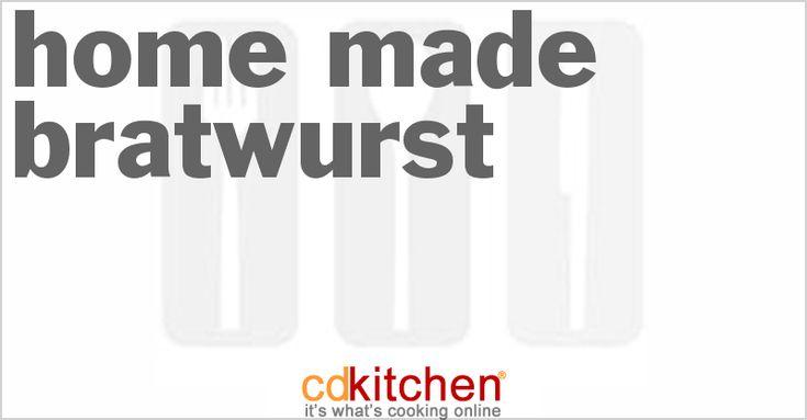 Made with hog casings, pork butt, veal, pork fat, allspice, caraway seed, dried marjoram, white pepper, salt | CDKitchen.com
