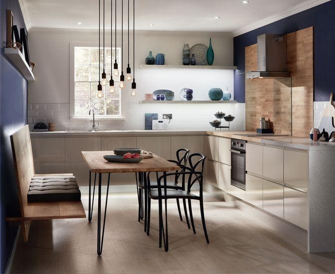 36 best kitchen worktops images on pinterest kitchen for Cream kitchen carcasses