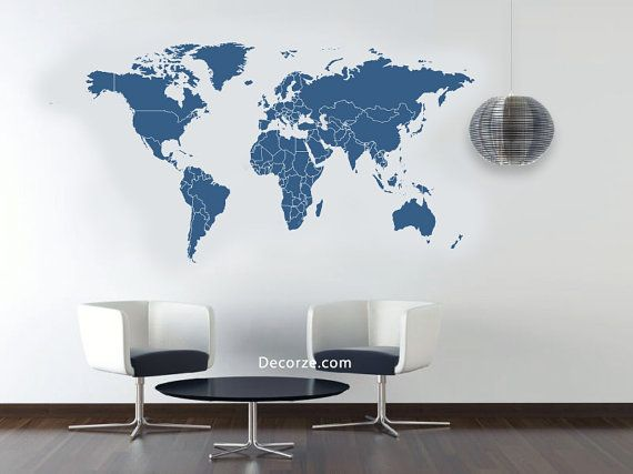 The 25 best world map stencil ideas on pinterest earth world world map stencil large customize sizes also by decorze on etsy gumiabroncs Images