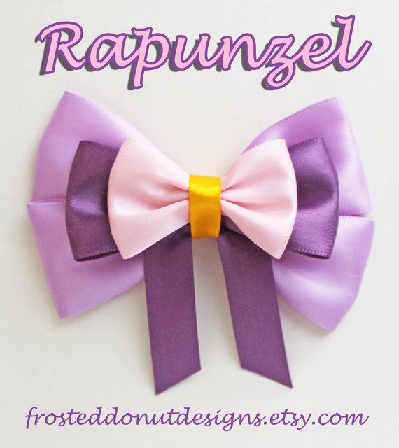 Tangled's Rapunzel Disney inspired Bow! on Etsy, $9.25