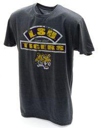 LSU Tigers TShirt Charcoal Vintage Touchback Twist