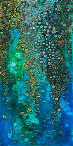 Amy Genser   Waterfall   paper and acrylic on canvas, 24