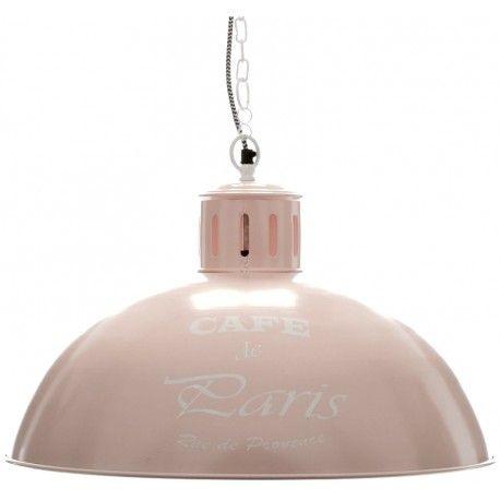 Różowa lampa Aluro to piękny dodatek do każdej kobiecej kuchni, która wykonana jest w bieli. Lampa posiada dekoracyjny napis.