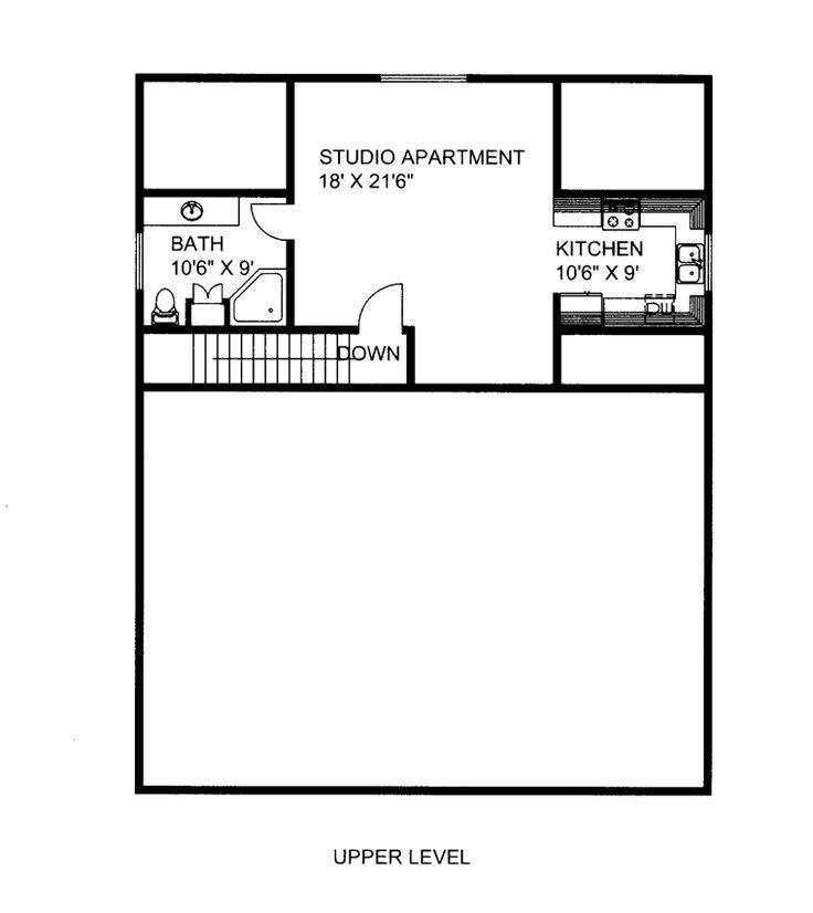 Garage Plan 85384 Level Two