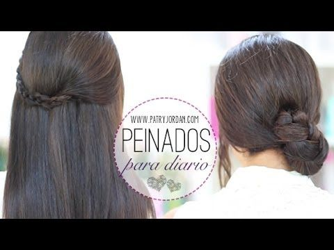 Peinados rápidos para cada día con trenzas - YouTube por Patry Jordan