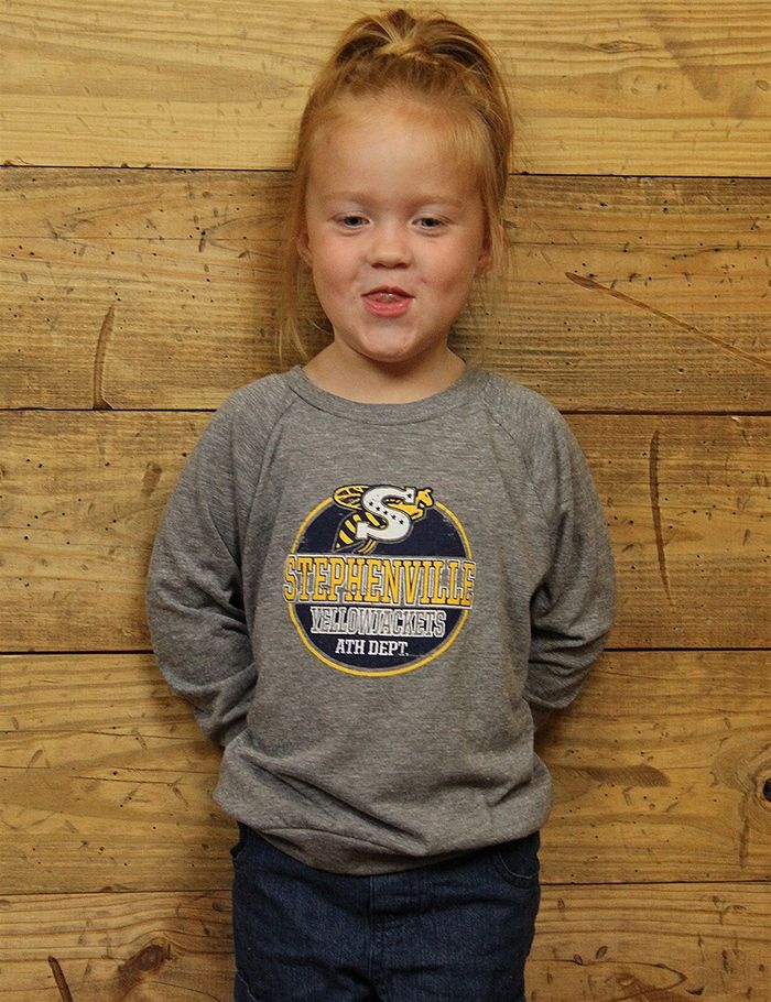 Get your little kids spirited in this Stephenville Yellow Jacket long-sleeve…
