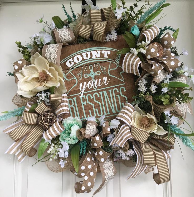 Count Your Blessings Wreath by Sheu0027s Crafty