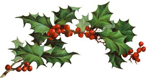 Christmas Clipart Holly.Pin On Holiday Crafts Cooking