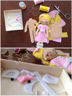 Ebrar'ın Keçeleri: Keçeden Oyuncak Bebekler