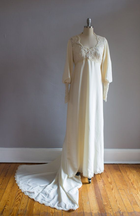 Priscilla of Boston Ivory Lace Wedding Gown by VivianEliseVintage