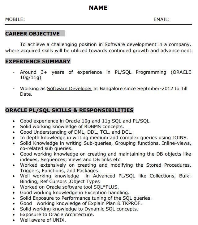 Sql Developer Resume Samples Professional Resume Templates In 2020 Resume Template Professional Resume Templates Resume