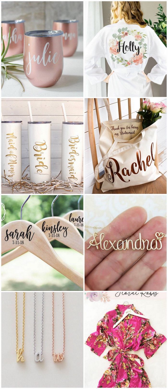 20+ Cute and thoughtful Bridesmaid Gift ideas for your squad. See more here: http://www.confettidaydreams.com/bridesmaids-gifts-ideas/
