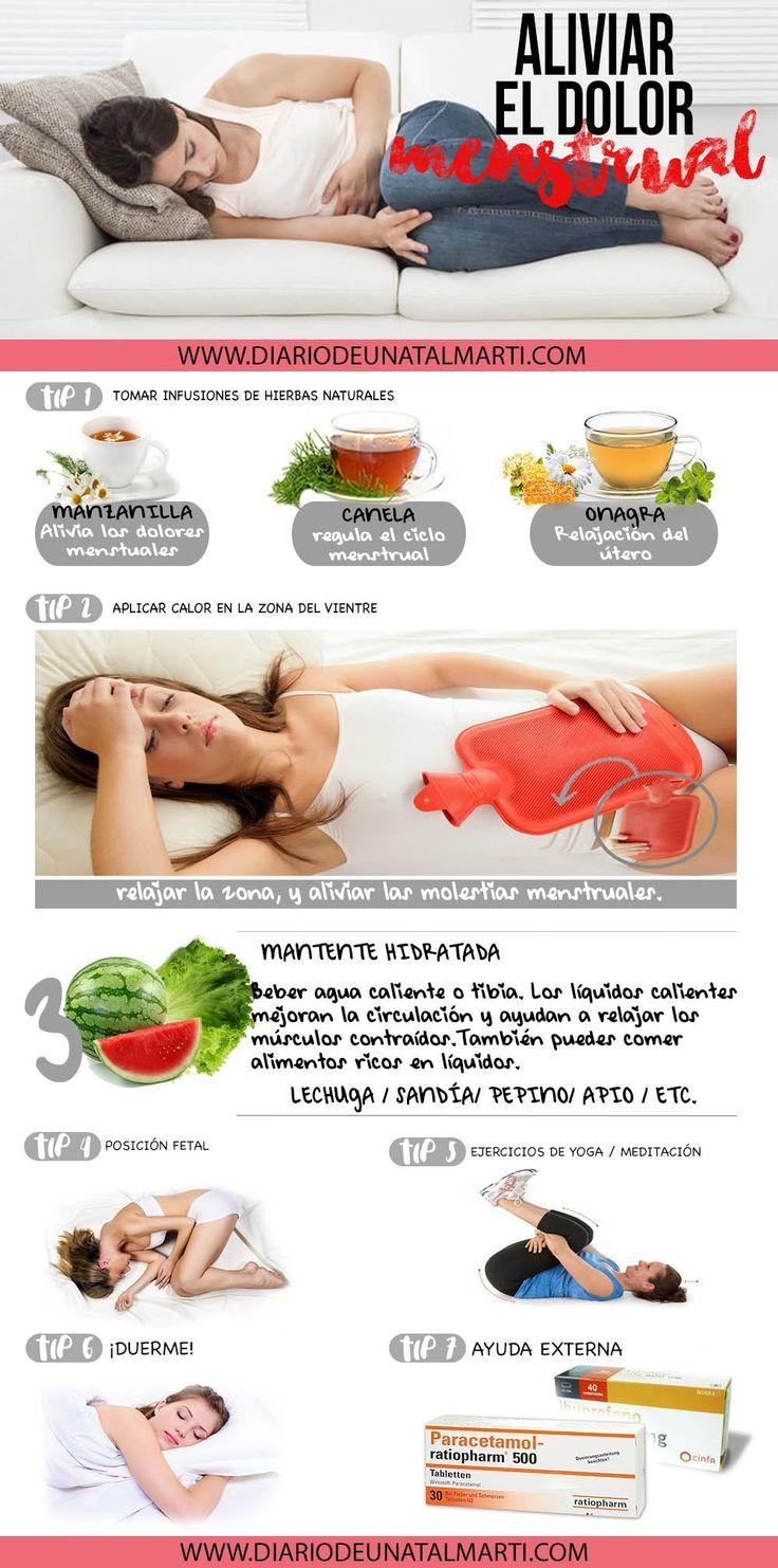 ¿Cómo aliviar el dolor de la menstruación?