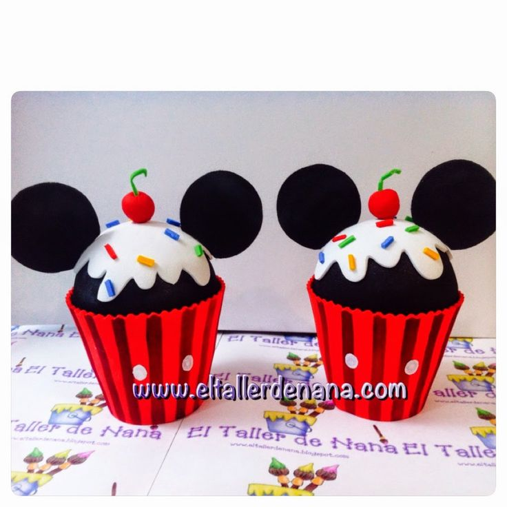 Cupcake Porta bombón de Mickey Mouse