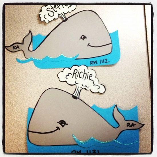 Whale door tags