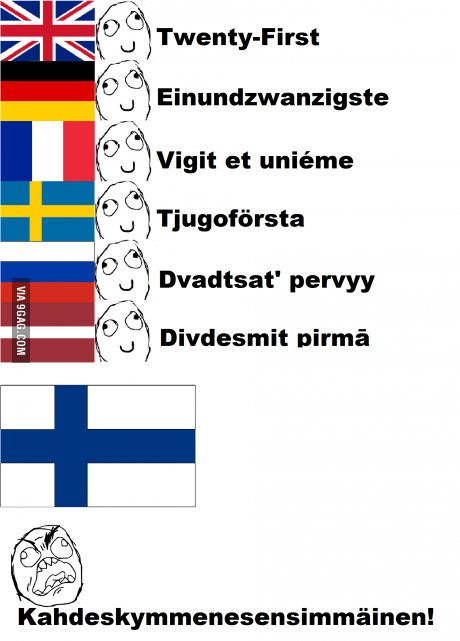 Finnish is being finnish again...