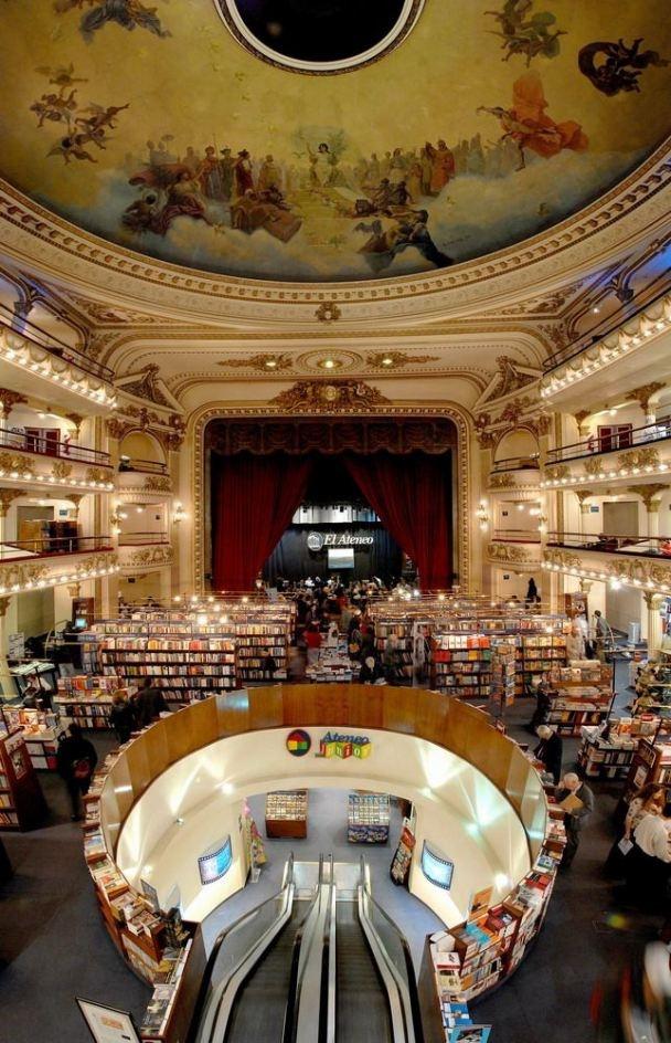 Un coucou et clin d'oeil aux amoureux de Buenos Aires, #BA #Argentine. La libraire El Ateneo, un endroit magique :)