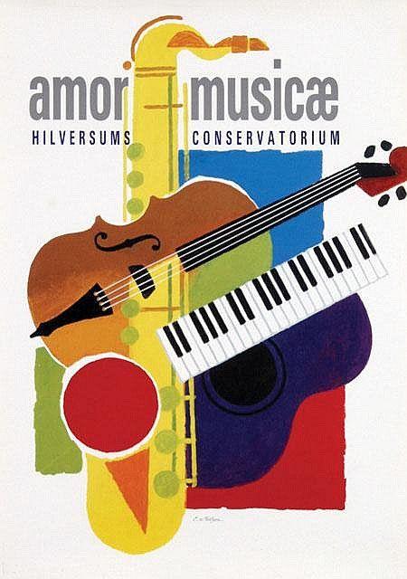 AMOR MUSICAE : Poster design by Cornelius van Velsen
