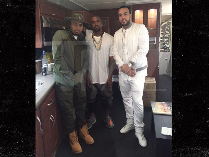 Kanye, French & Nas -- New Yeezy Alert (PHOTO)