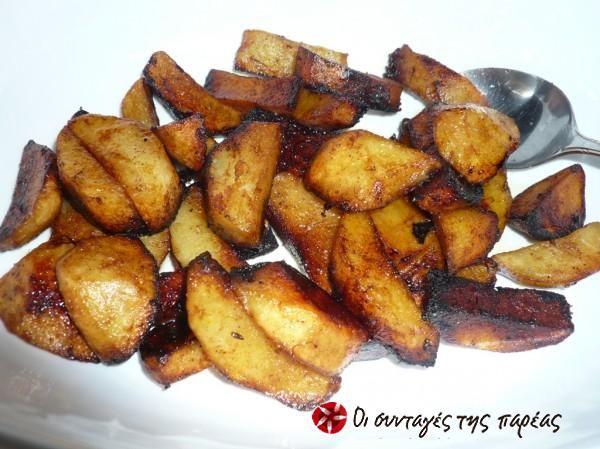 Πατάτες κρασάτες με σαφράν #sintagespareas