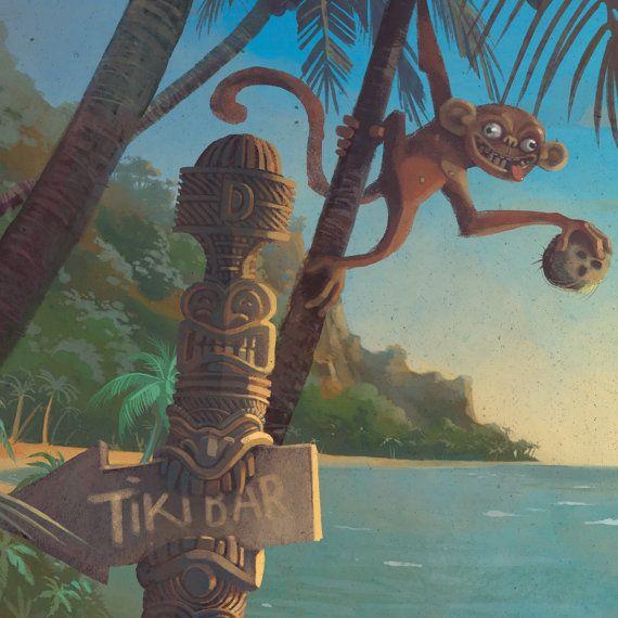 Rive-nord de Hawaii voyage affiche Hawaii Hawaii Art peinture