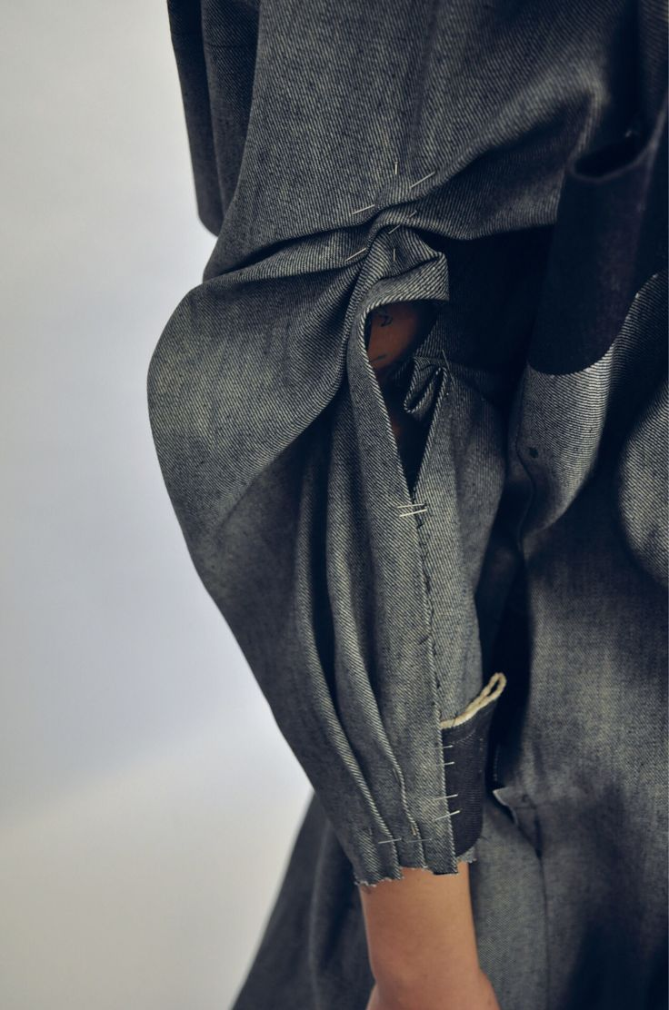 sleeve detail - tailoring in progress +
