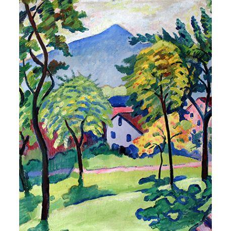 Tegernsee Landscape - August Macke - reprodukcje na płótnie - Fedkolor
