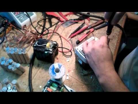 Szerszámgép akku felújítása - YouTube