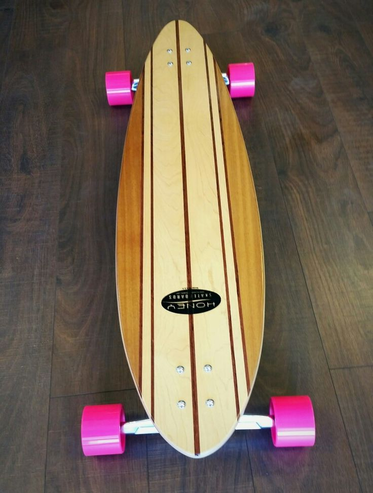 Custom Honey Skateboards deck with Original S10 Trucks, ABEC 11 BigZig wheels and Bultin bearings.   #longboarding #longboard #longboards #longboarder #skateboard #skateboards #asu #sk8 #sk8r #pink #honeyskateboards #originaltrucks #abec11