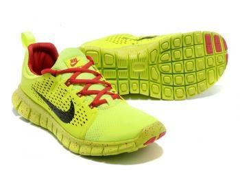 Cheap NIKE Free Powerlines + II Men Running Shoes Neon / Black Sale UK - NIKE Free Powerlines Running Shoes