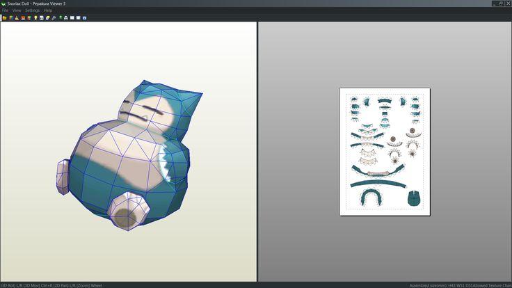 Snorlax Doll Papercraft Unfold By Antyyy Deviantart Com On