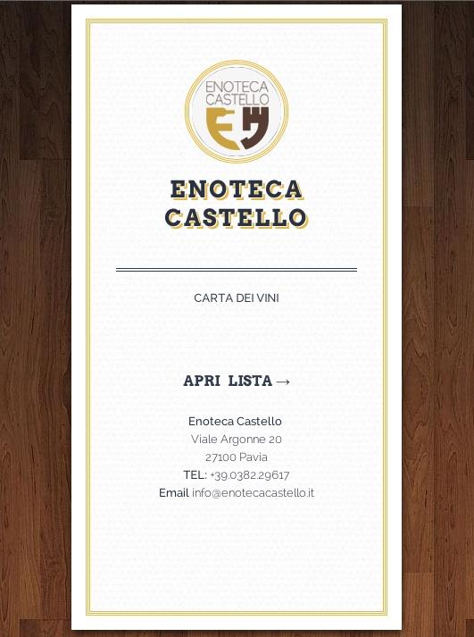 Carta dei vini interattiva 3D