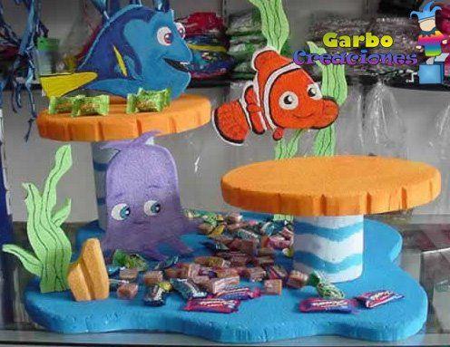 Dulcero, Golosinero, maqueta, centro de mesa Nemo