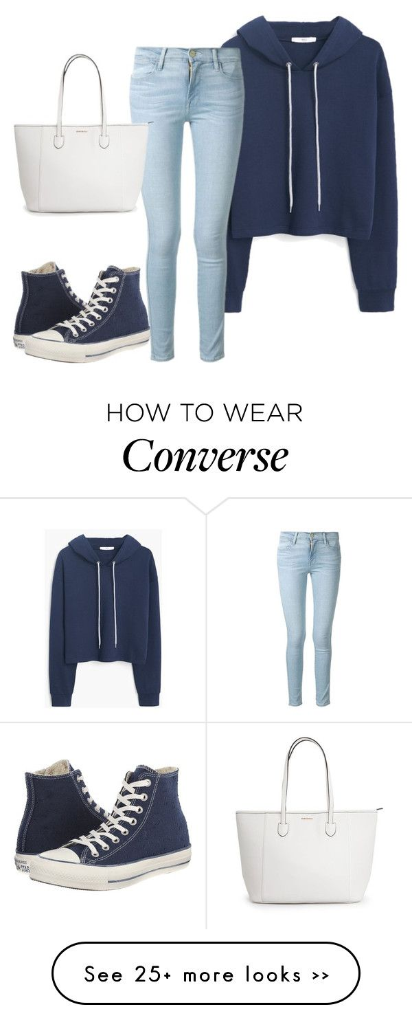 """Sans titre #200"" by israa-arafat on Polyvore featuring MANGO, Frame Denim and Converse"