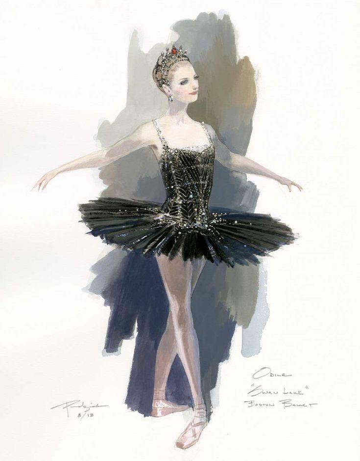 Odile, the Black Swan. Costume design by Robert Perdziola ♥ Wonderful! www.thewonderfulworldofdance.com #ballet #dance